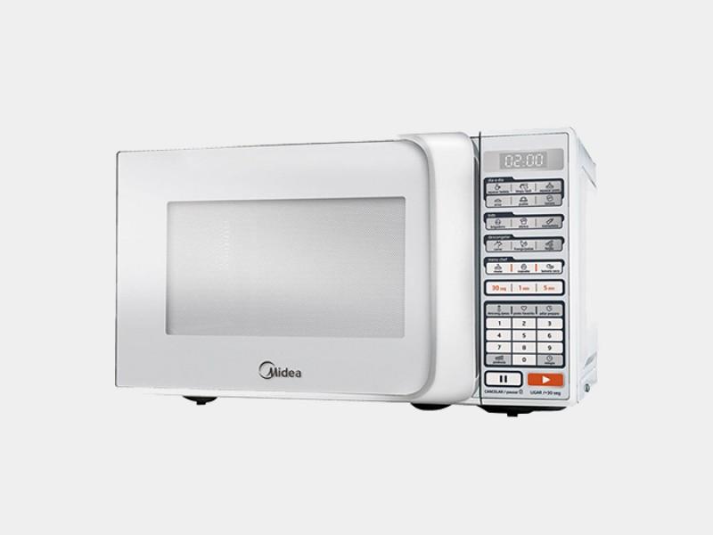 Forno de micro-ondas Midea MTAS2 com Display digital e Menu CHEF - 20 L