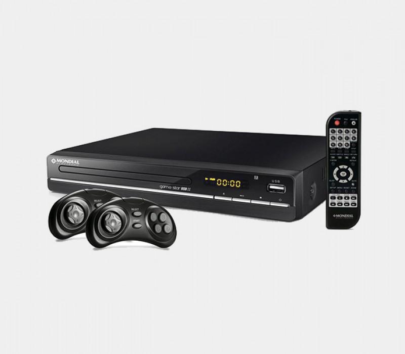 DVD Player Mondial Game Star II D-14 com Karaok�, Fun��o Game, Entrada USB e Ripping