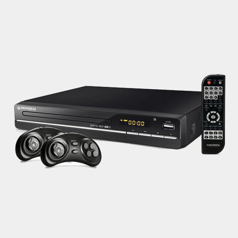 DVD Player Mondial Game Star II D-14 com Karaokê, Função Game, Entrada USB e Ripping